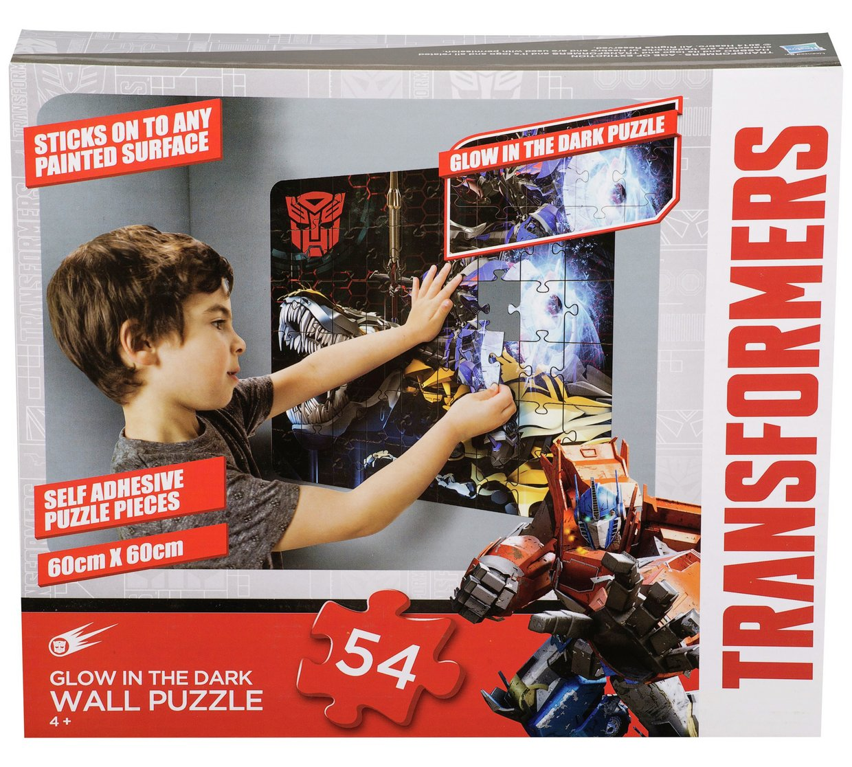 Transformers Glow In The Dark Wall Puzzle