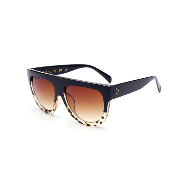 Leopard Pattern Black Sunglasses