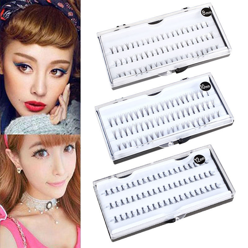 60 Individual Stand False Eyelashes