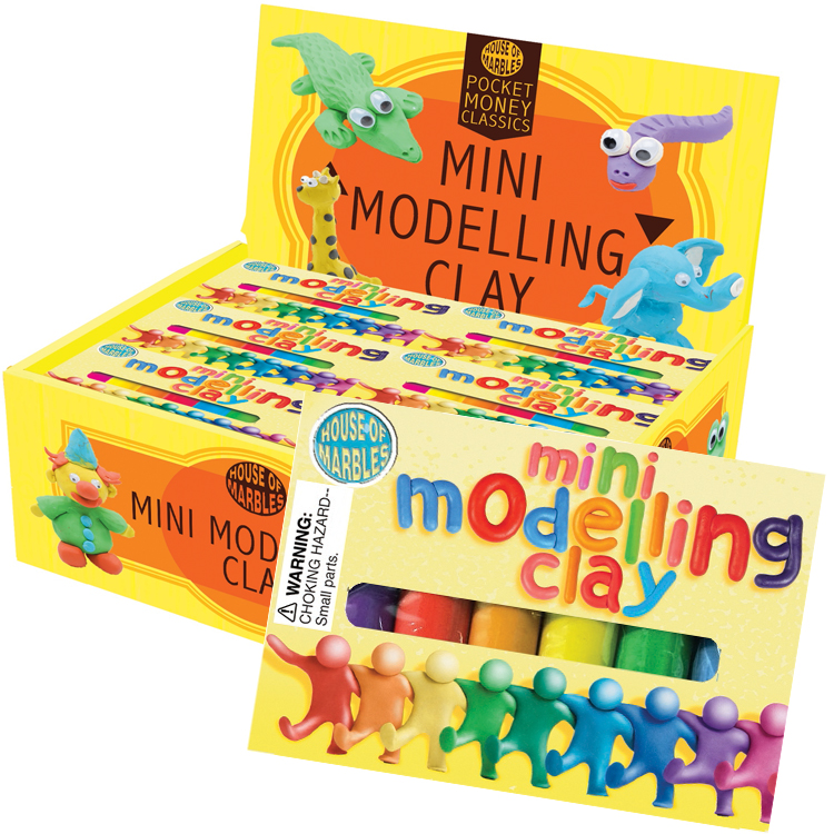 Brightly Colored Modelling Mini Clay