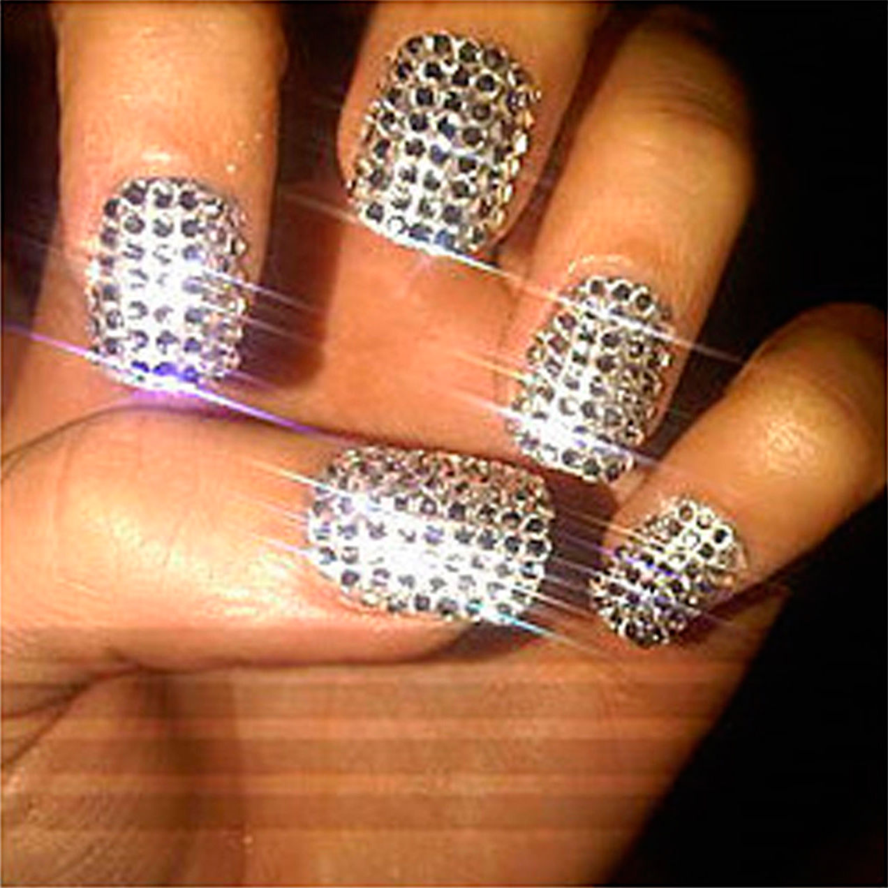 1.5mm Clear Round Rhinestones Nail Art