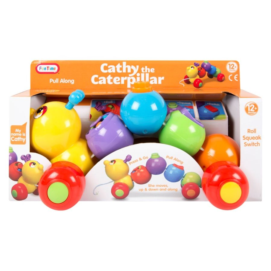 Cathy The Caterpillar Pull Along Toy