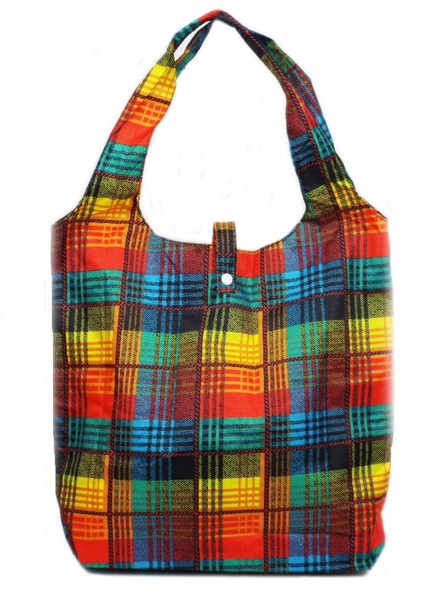 Mini Check Print Shopper Bag