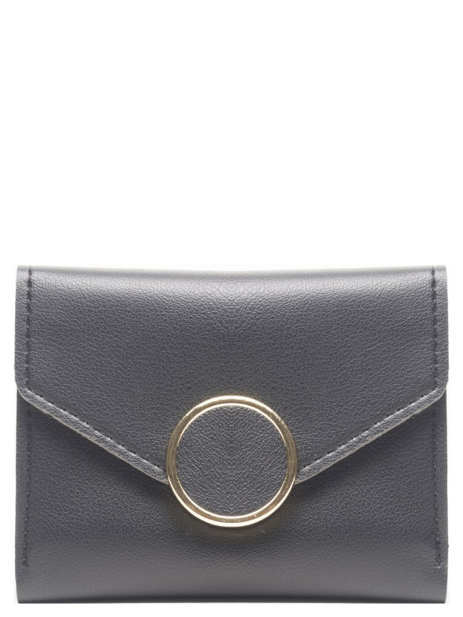 Black with Disc Detail Purse