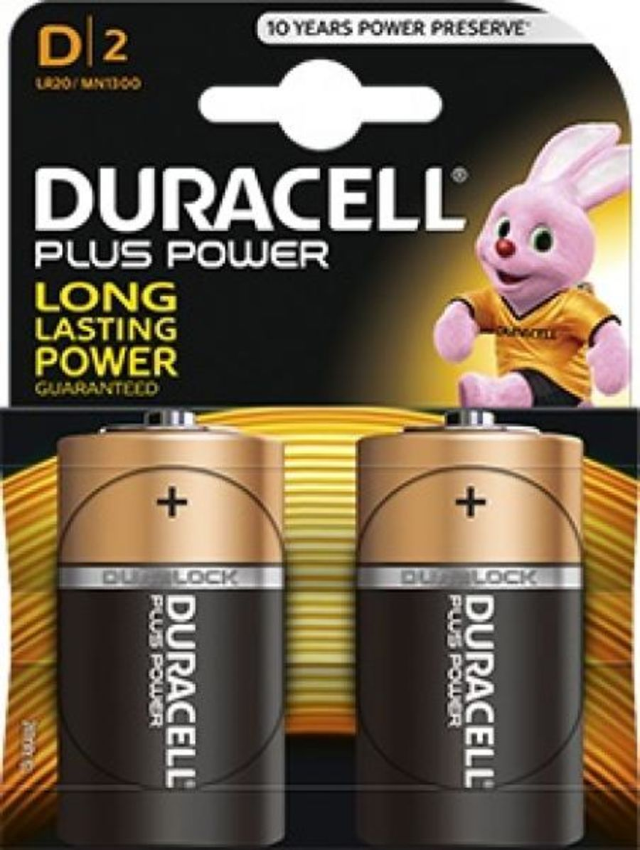 Duracell Plus Power Alkaline Batteries - D (1.5)