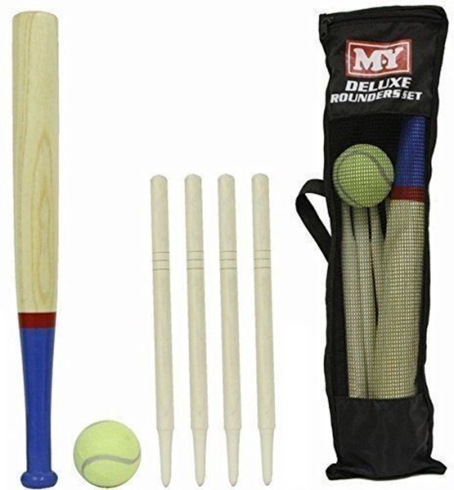 Deluxe 6 Piece Wooden Rounders Set