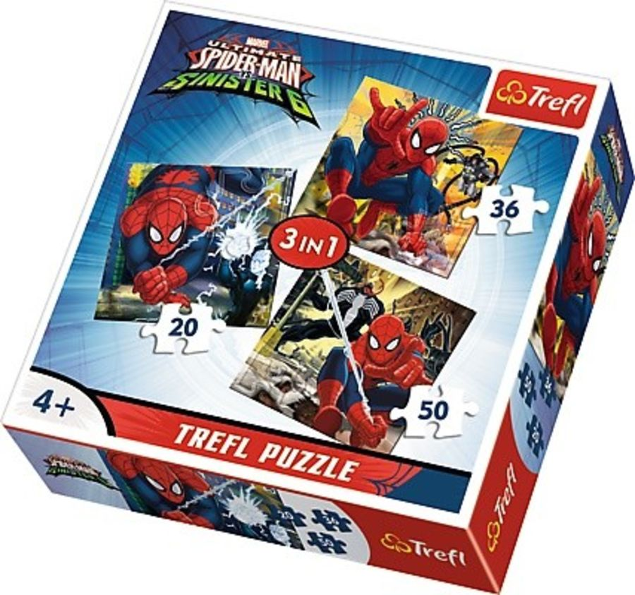 3 in 1 Spiderman Puzzle
