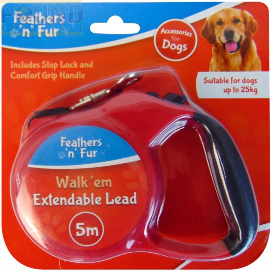 Furs and Feather Extendable Lead