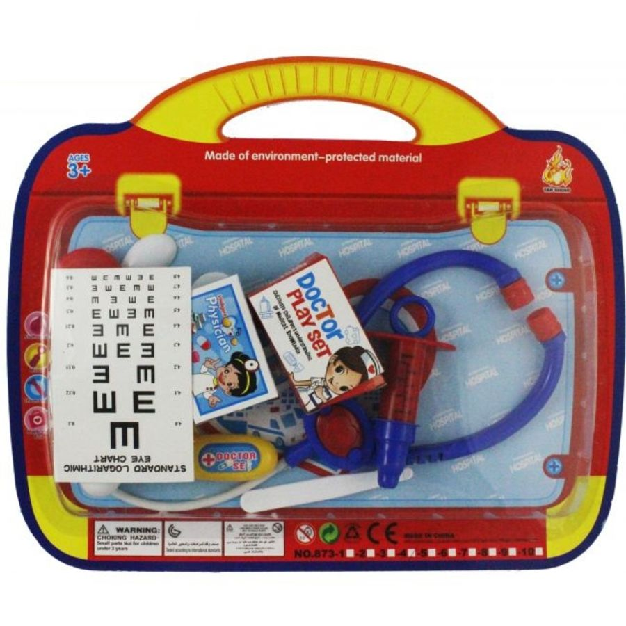 10PC Doctor Playset with Carry Case