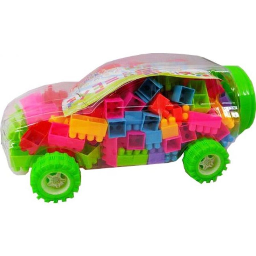 Toy Car with 215 Building Blocks