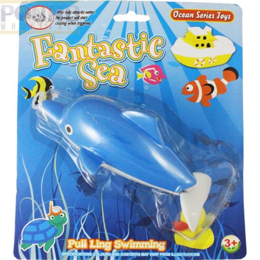 Fantasies Sea Pull Line Swiming Dolphin Bath Toy