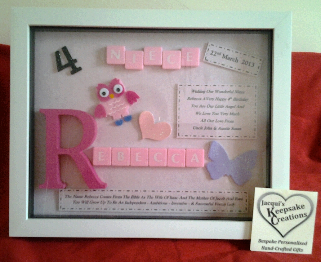 Niece Birthday Bespoke Personalised Box Frame