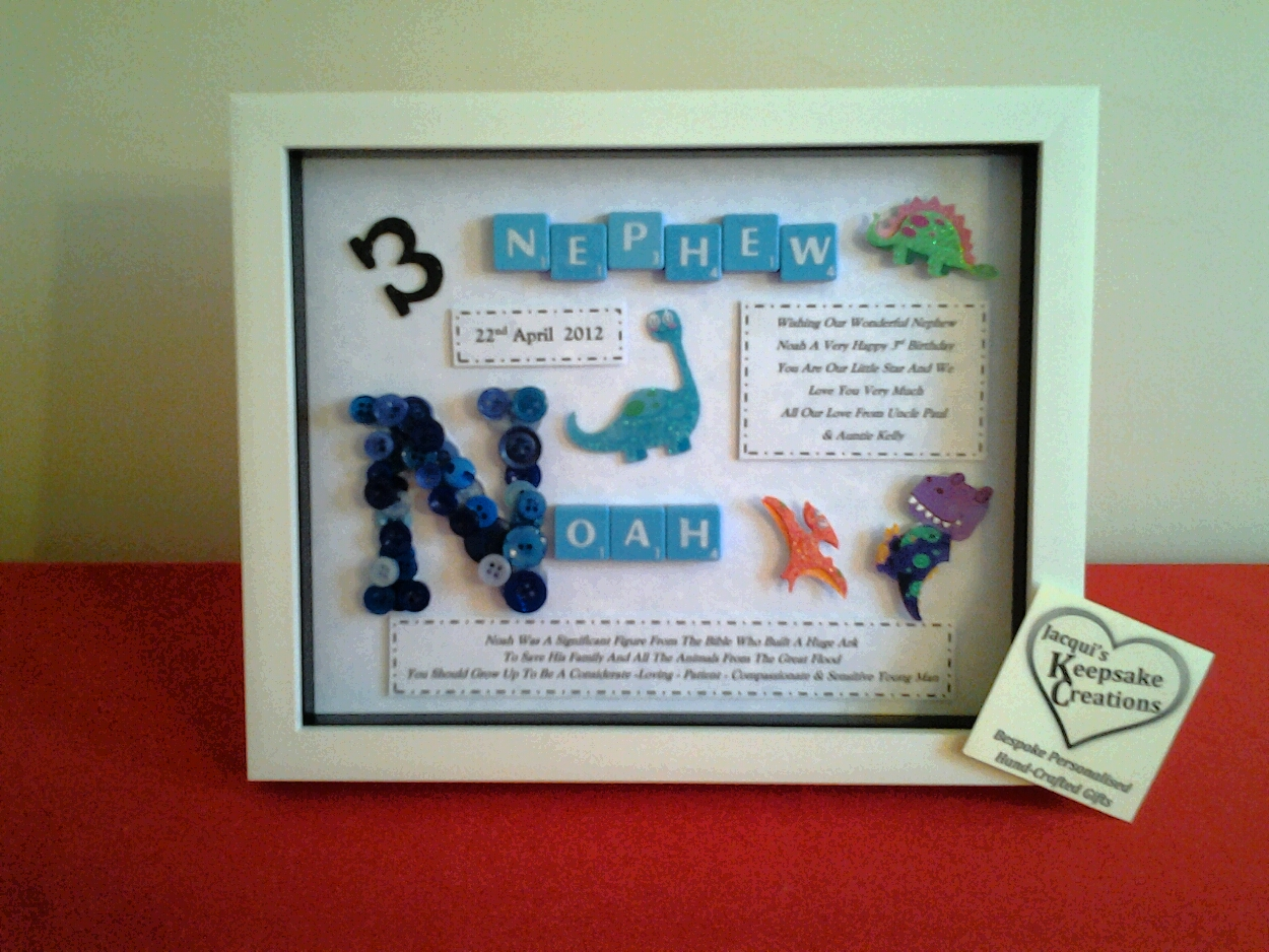 Jacquis Keepsake Creations Nephew Birthday Gift