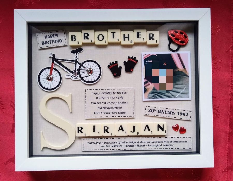 Brother Birthday Bespoke Personalised Box Frame