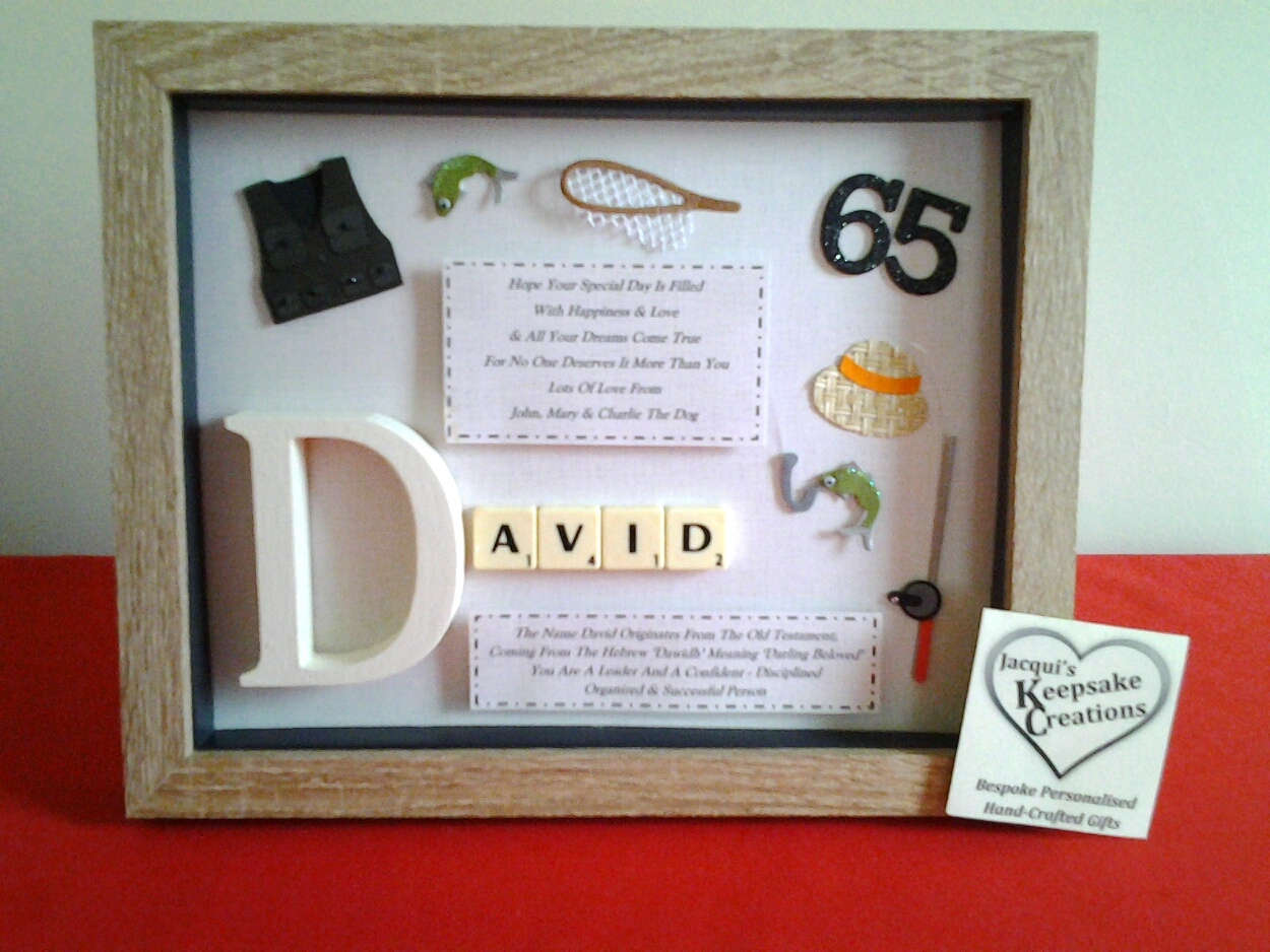 Birthday Bespoke Personalised Box Frame