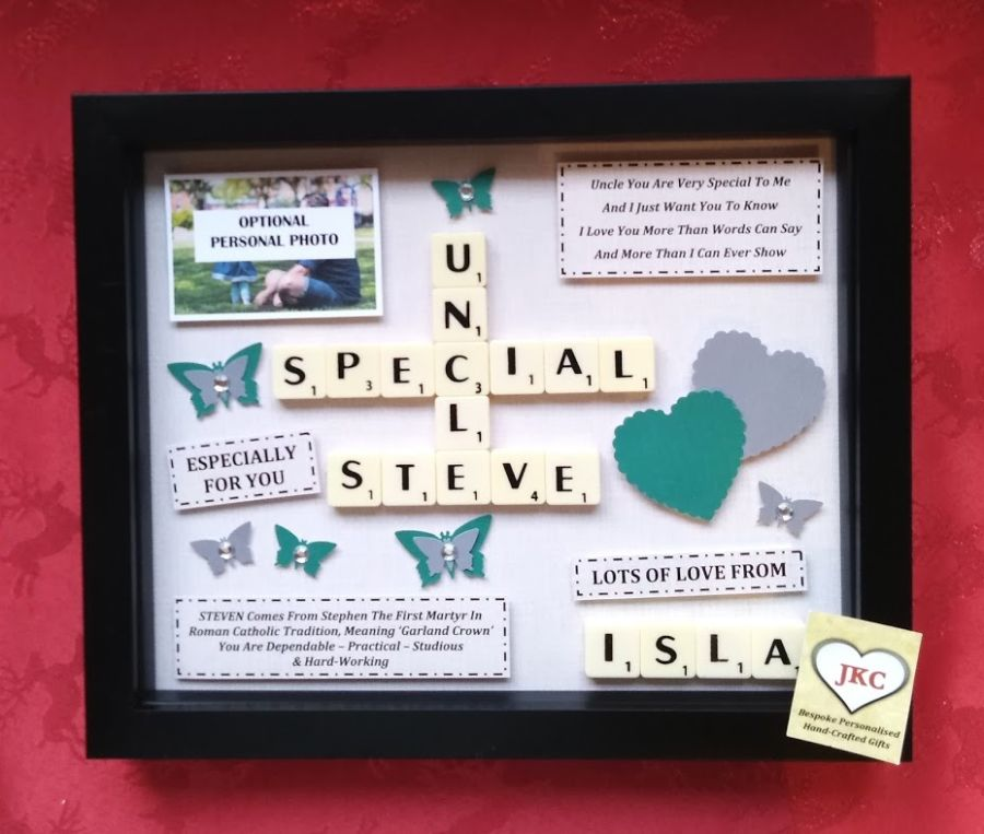 Personalised Uncle Bespoke Box Frame Birthday Gift
