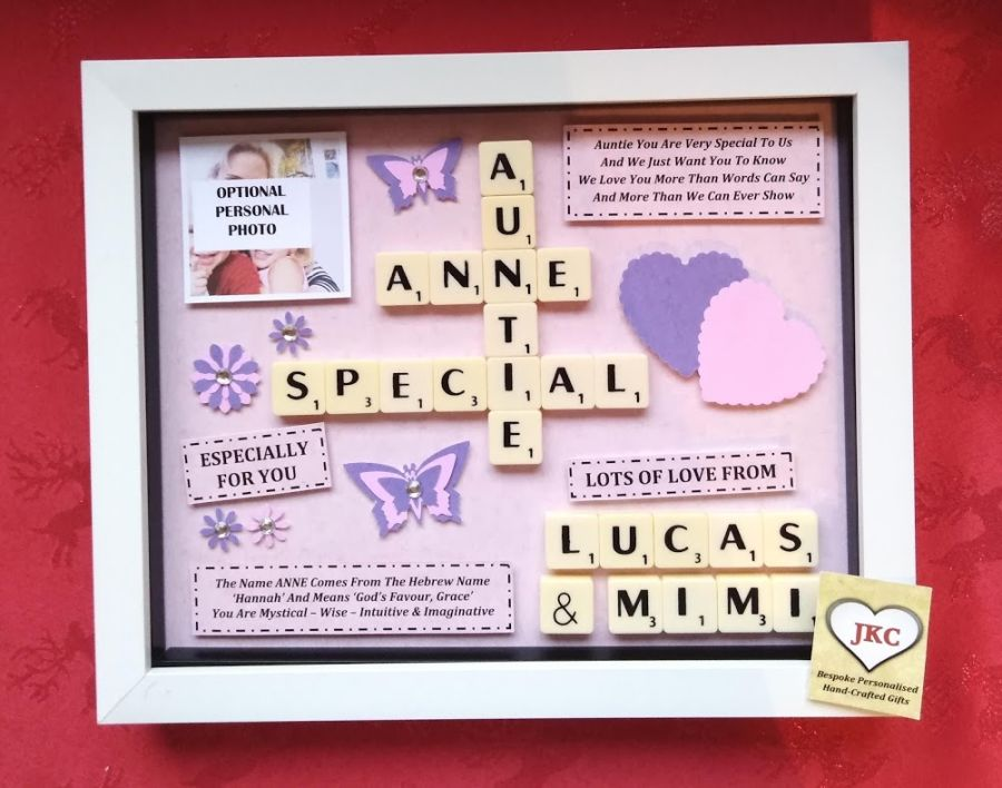 Auntie Birthday Bespoke Personalised Box Frame