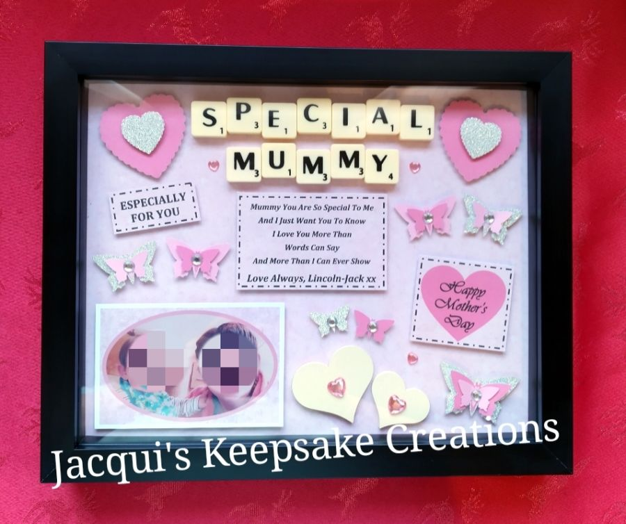 Mothers Day Personalised Keepsake Box Frame Gift With Photo