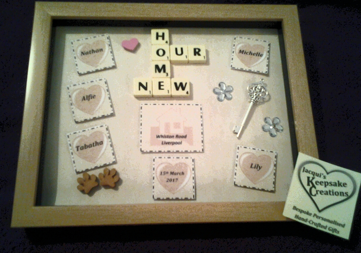 Our New Home Bespoke Personalised Box Frame Gift
