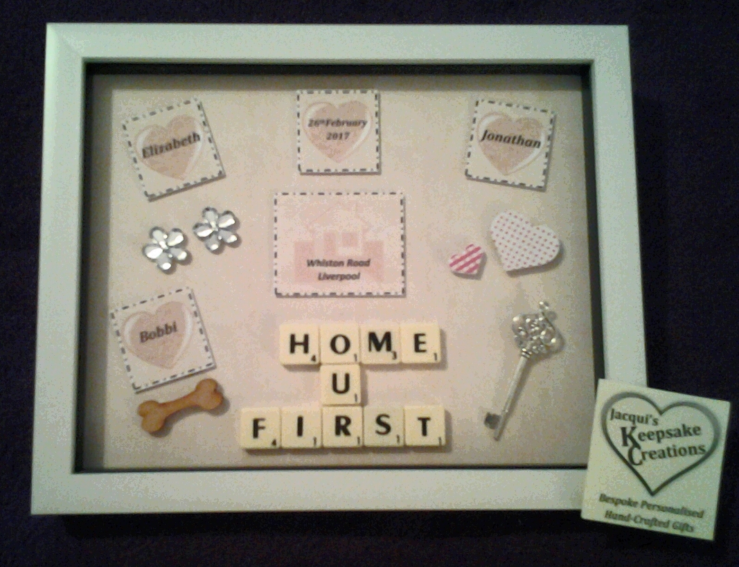 Our First Home Bespoke Personalised Box Frame Gift