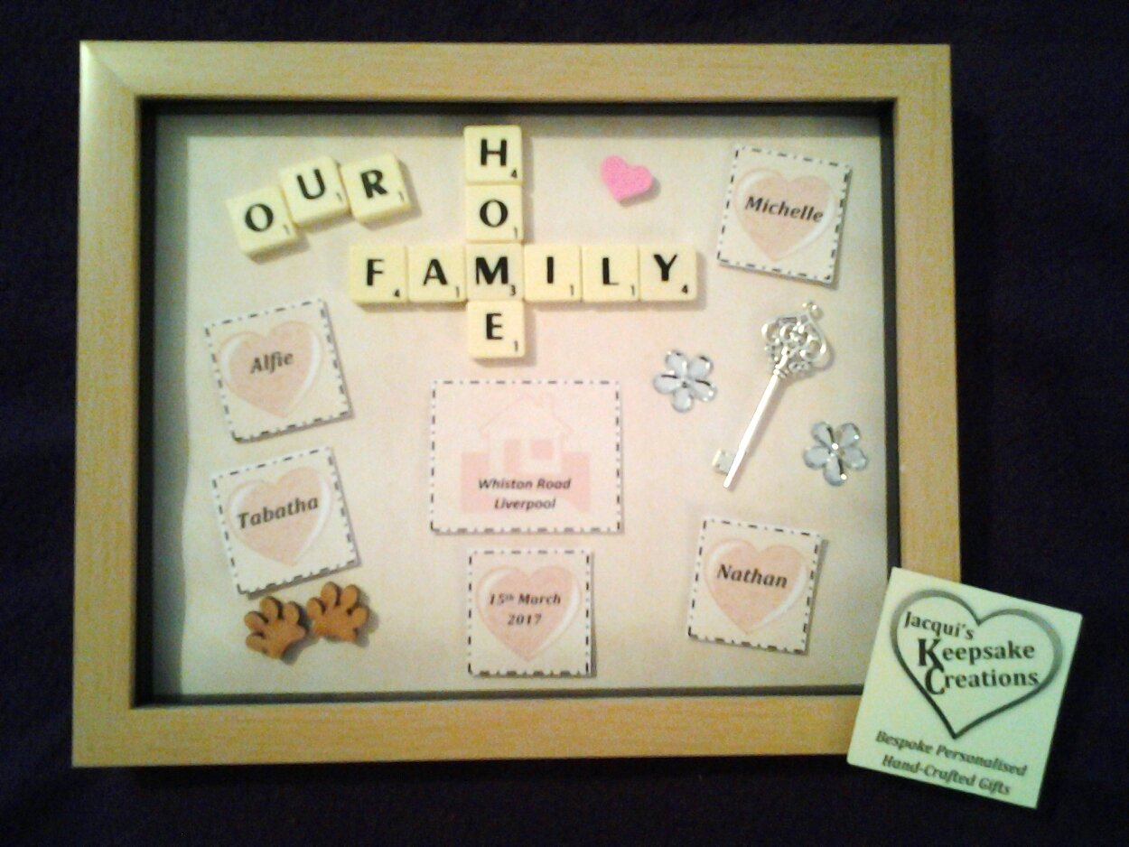 Our Family Home Bespoke Personalised Box Frame Gift