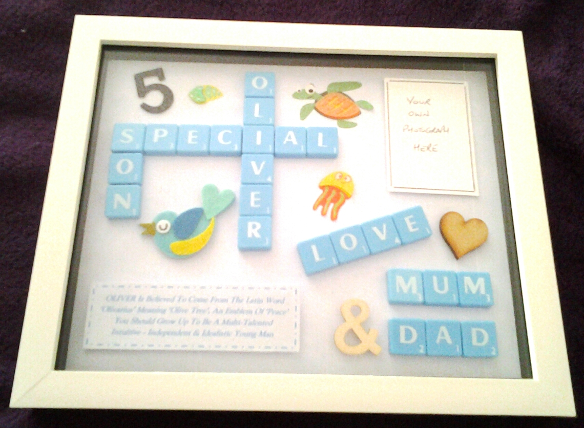 Son or Daughter Birthday Personalised Box Frame