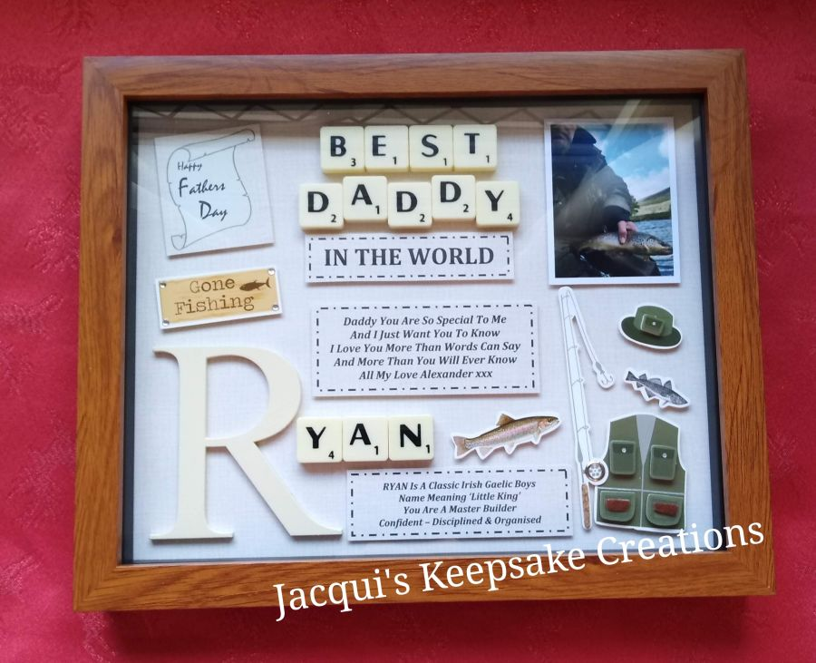 Fathers Day Personalised Gift Box Frame With Photo