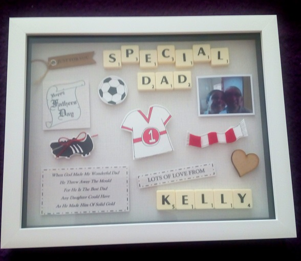 Fathers Day Personalised Box Gift Frame Version 2