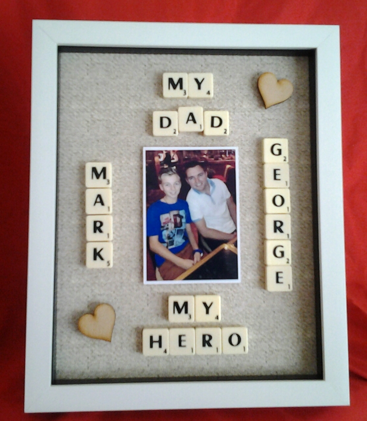 Dad My Hero Personalised Box Frame With Photo