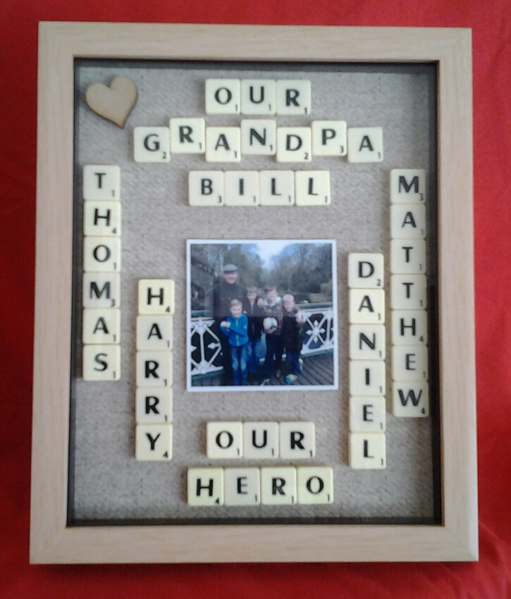 Grandad My Hero Personalised Box Frame