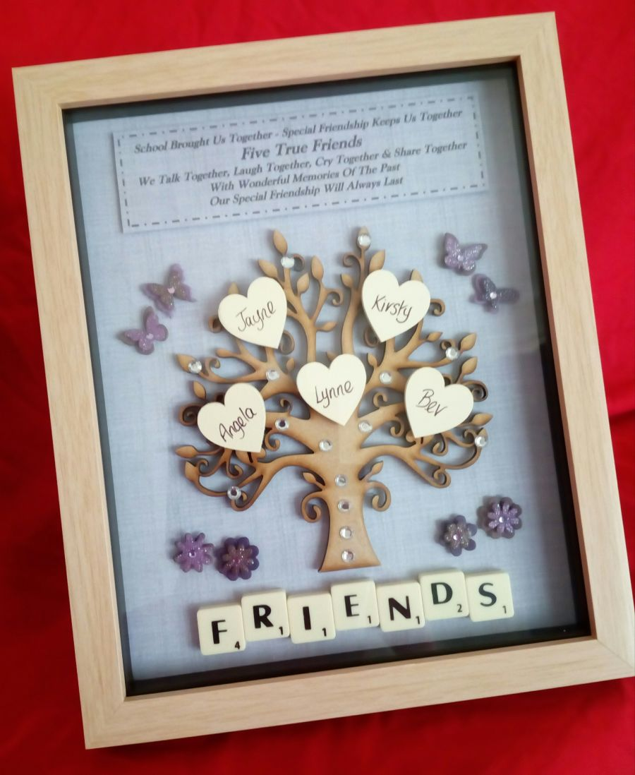 Friends Tree Personalised Frame Gift