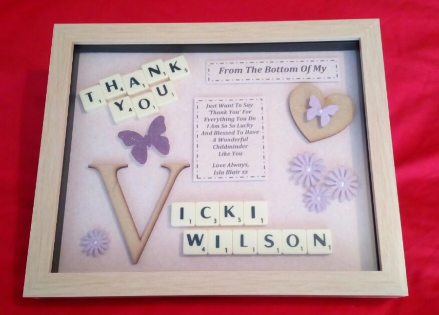 'Thank you' Personalised Keepsake Gift Female