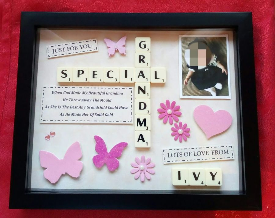 Grandma Mothers Day Personalised Box Frame Gift