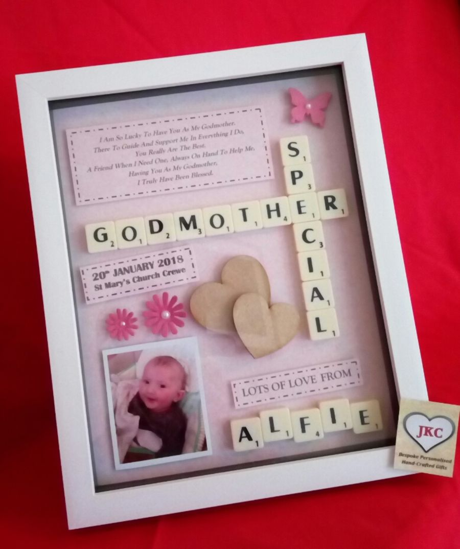 Godparent Thank You Personalised Box Frame Gift