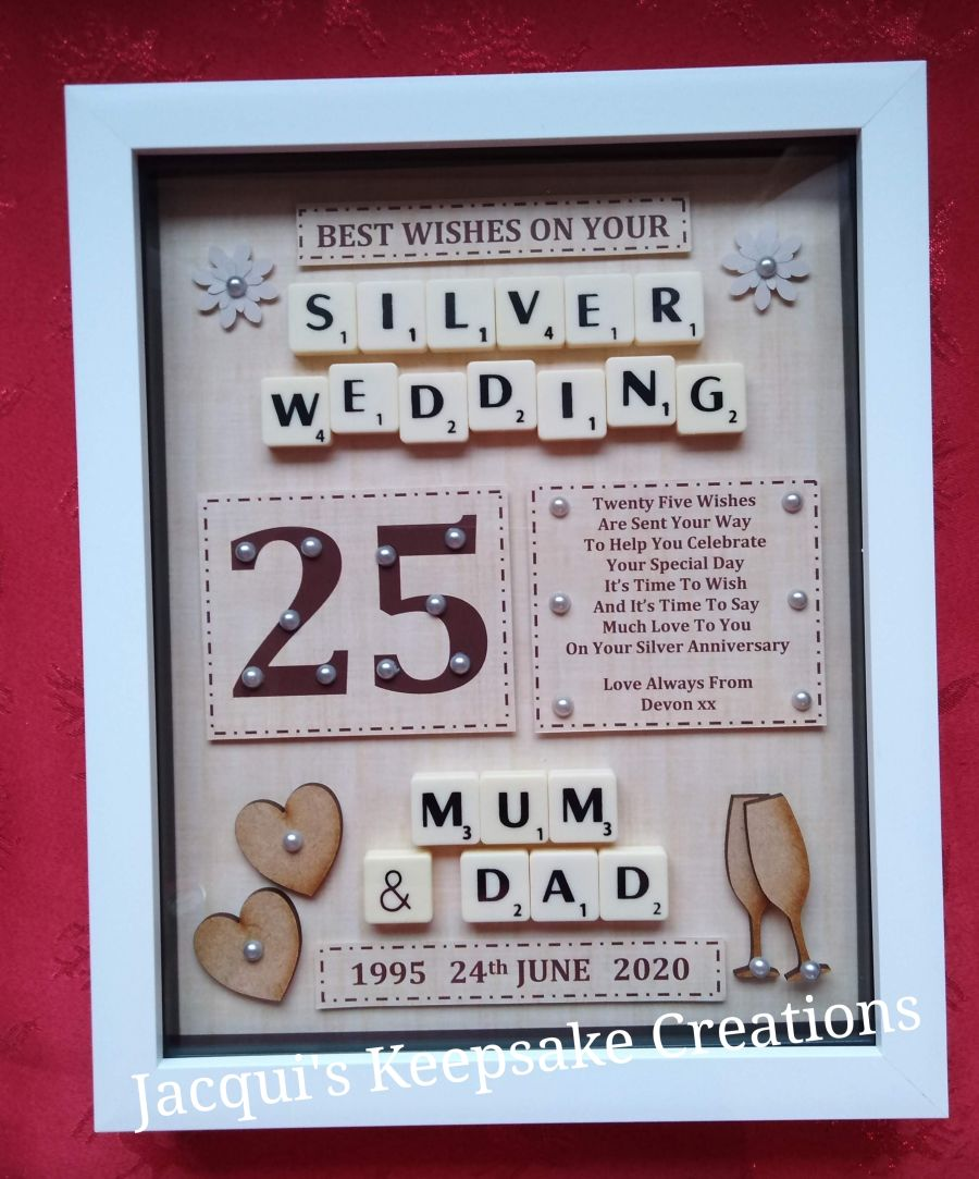 25th Silver Wedding Anniversary Bespoke Gift