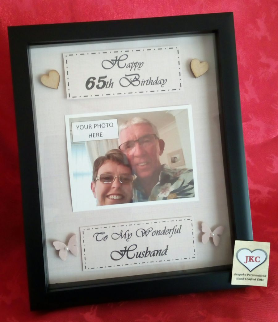 Personalised birthday keepsake frame picture gift male