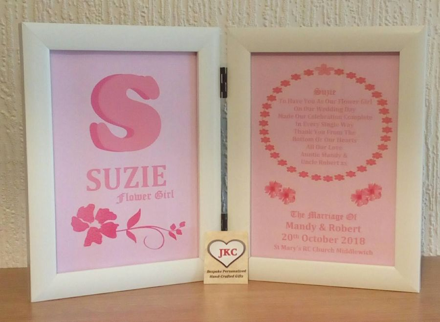 Thank You For Being Our Flower Girl Personalised Photo Frame Print