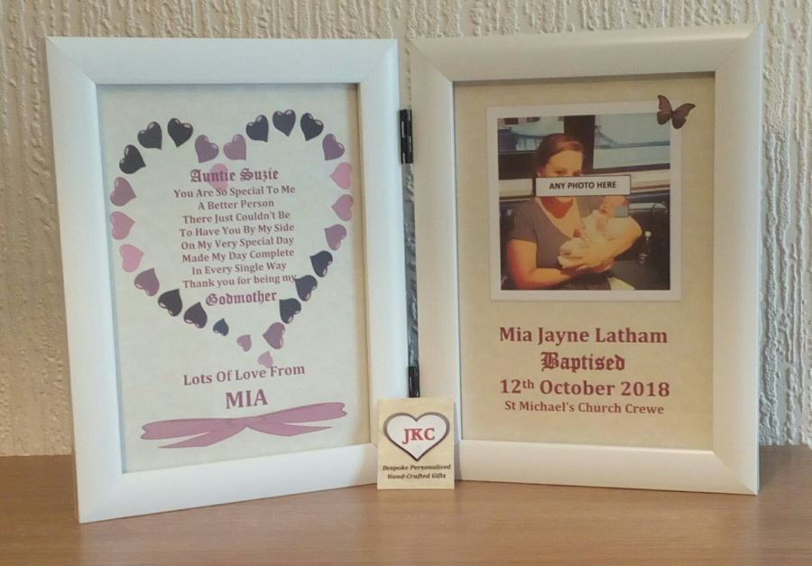 Godmother Thank You Personalised Photo Frame Print