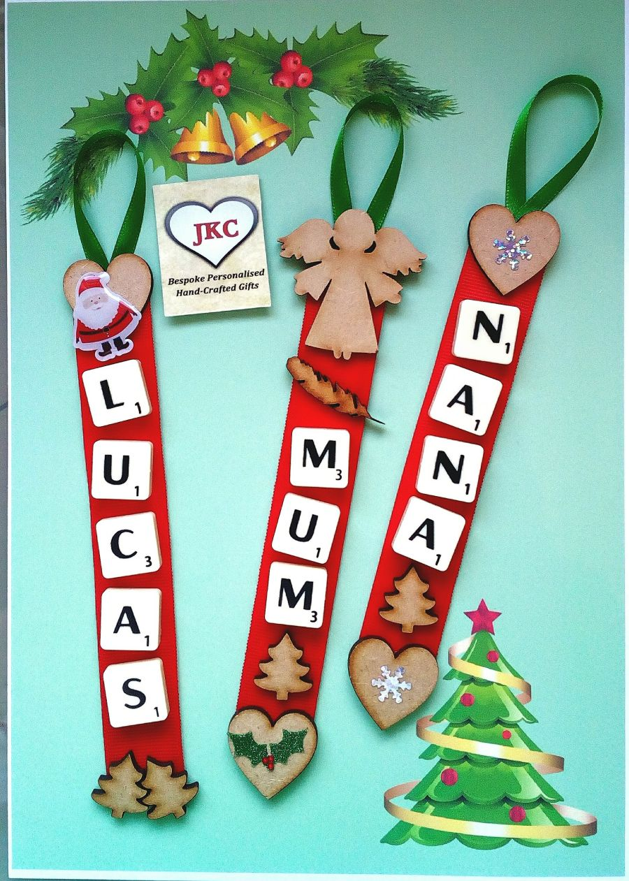 Personalised Deluxe Christmas Scrabble Hanger Decoration