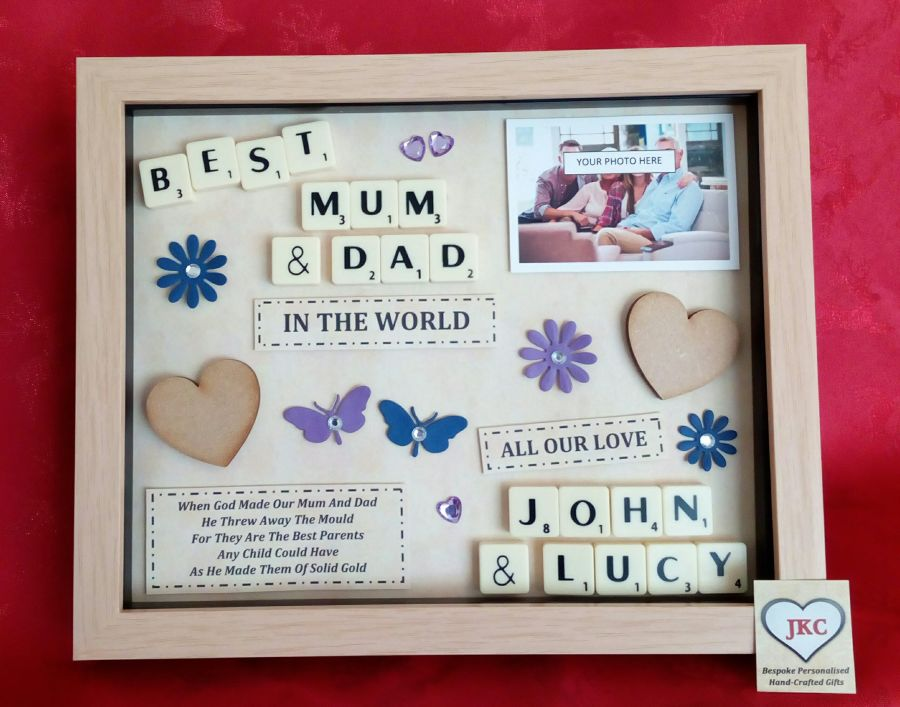 Mum & Dad Personalised Box Frame Gift