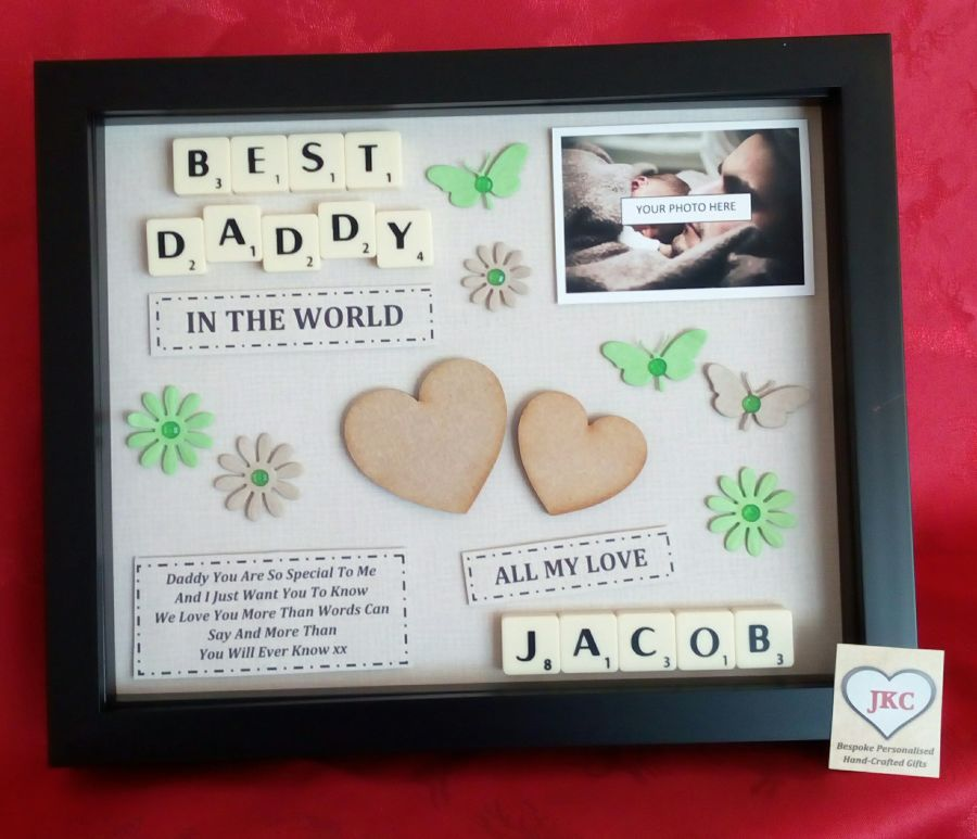 Dad or Daddy Personalised Box Frame Gift