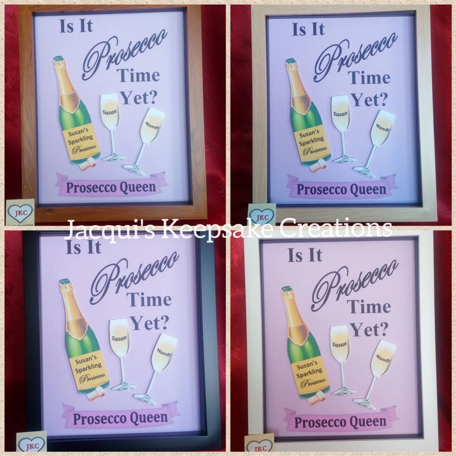 Personalised PROSECCO Drinker Picture Frame Keepsake