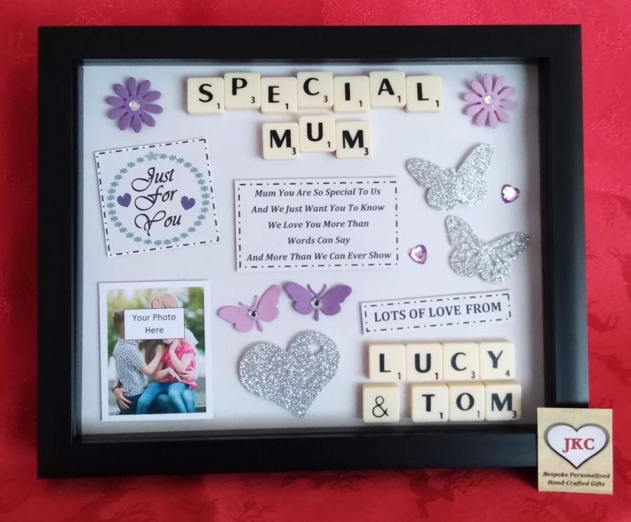 Personalised Mothers Day Box Frame Gift