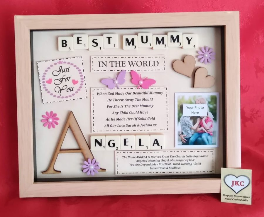 Personalised Best Mum Mummy or Mother Box Frame Gift