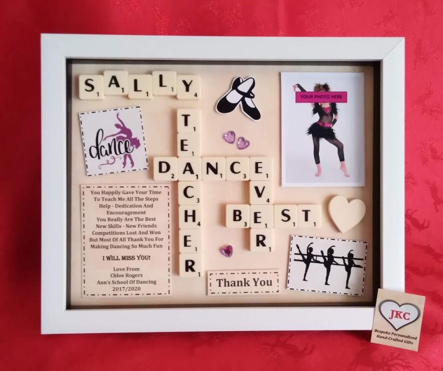 Dance Teacher Bespoke Personalised Box Frame Thank You Gift