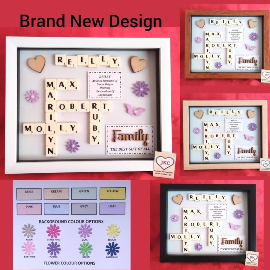 'Family' Bespoke Personalised Box Frame Gift 'Option 2'
