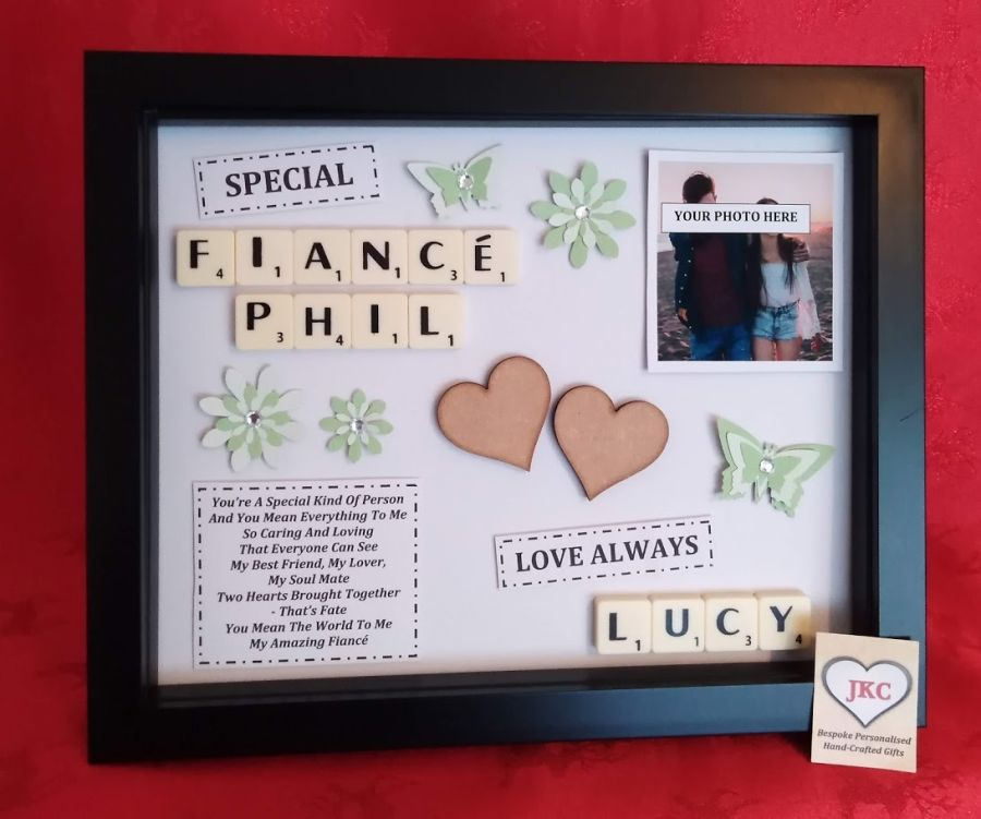 Fiance Personalised Gift Frame Keepsake