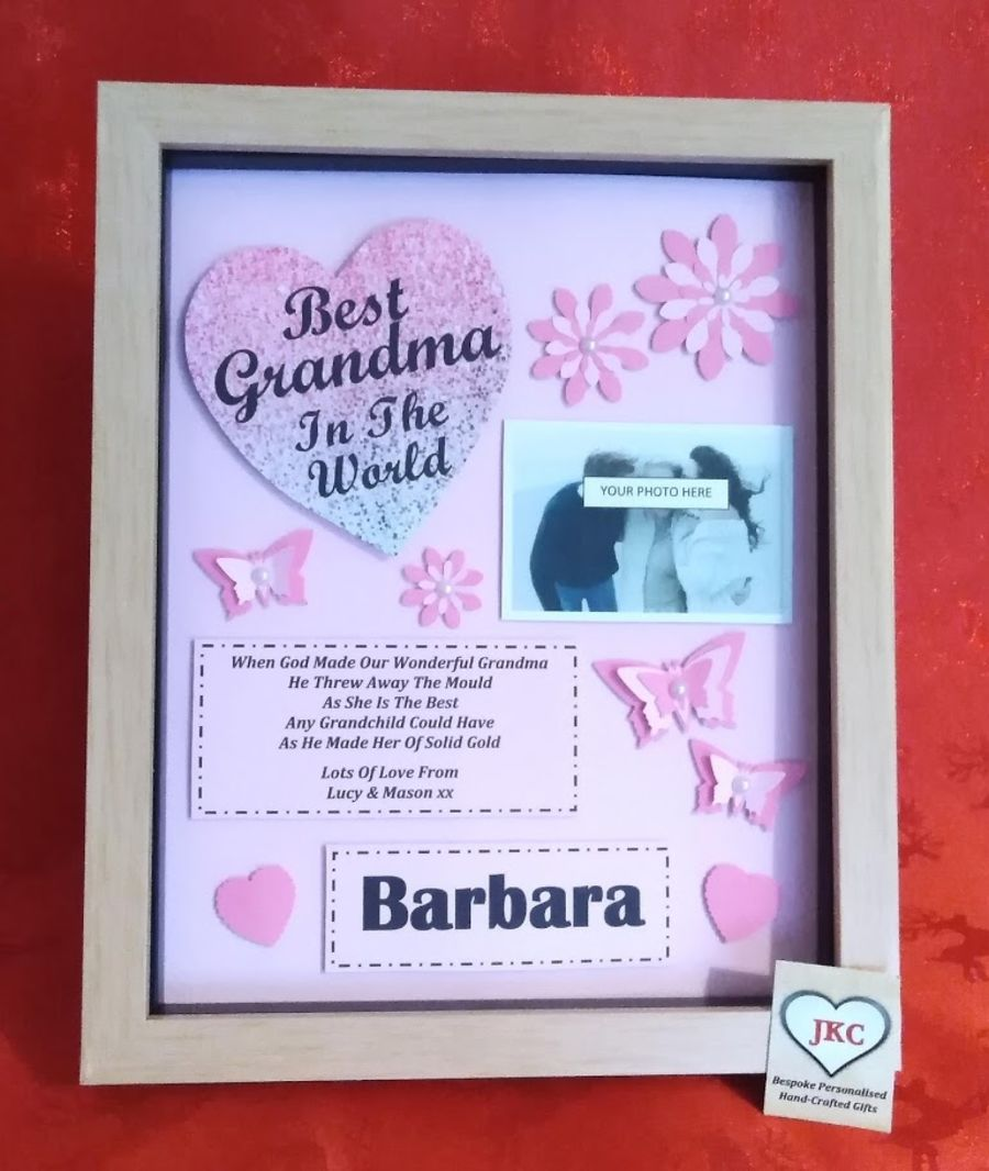 Grandma Personalised Mother's Day Picture Frame Gift
