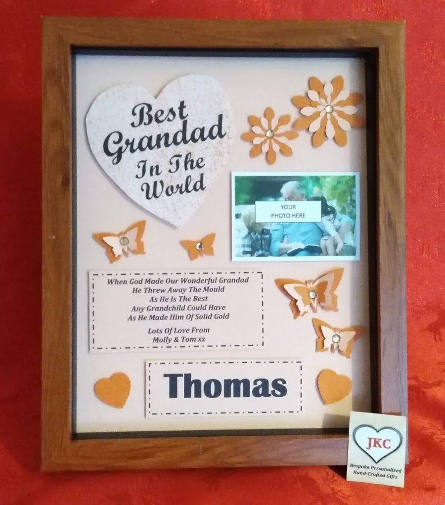Grandad Personalised Father's Day Picture Frame
