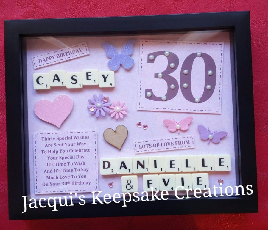30th Birthday Bespoke Personalised Box Frame Gift